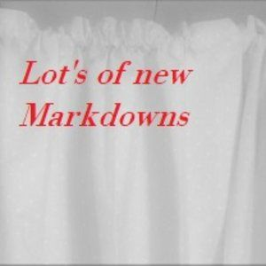 New Markdowns for the weekend